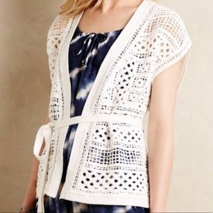 Anthropologie // Knitted & Knotted // Crochet Vest